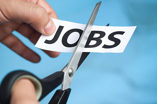 cutting jobs stock photo