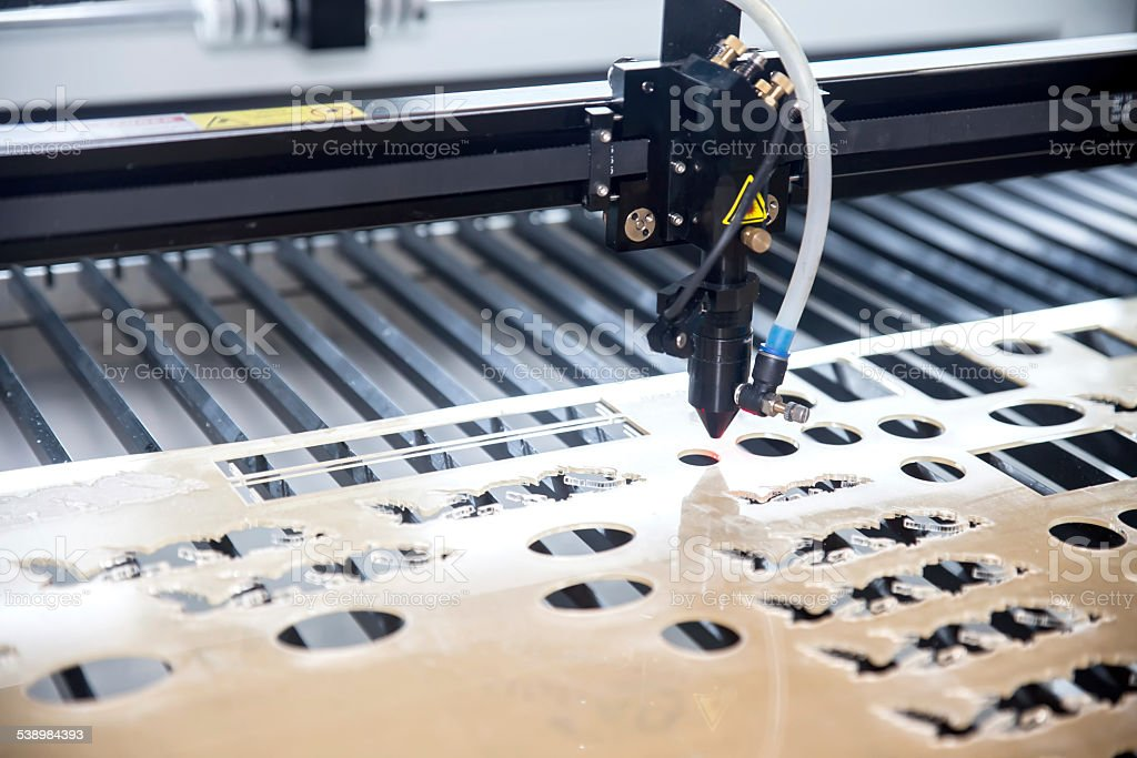 Cutting machine stock photo