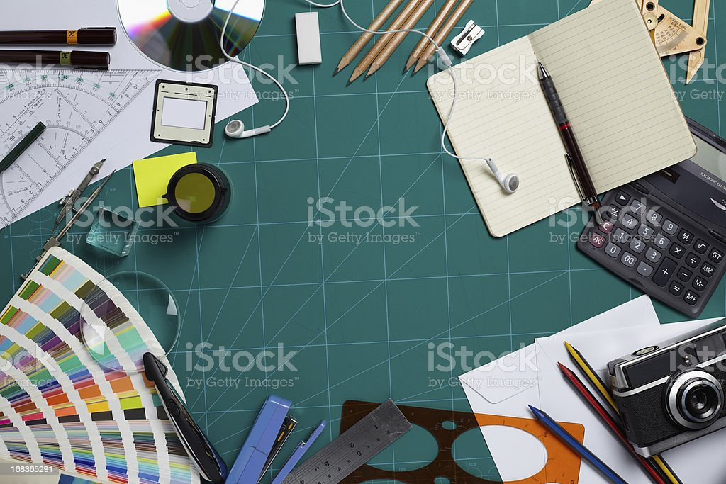 Cutting mat of a designer stock photo