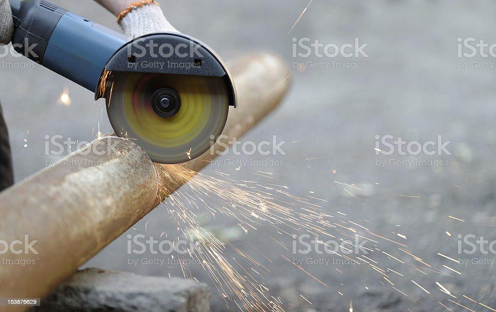 Cutting metal electric tool royalty-free stock photo