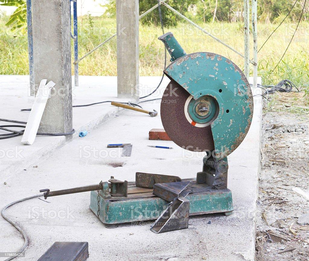 cutting metal machine royalty-free stock photo