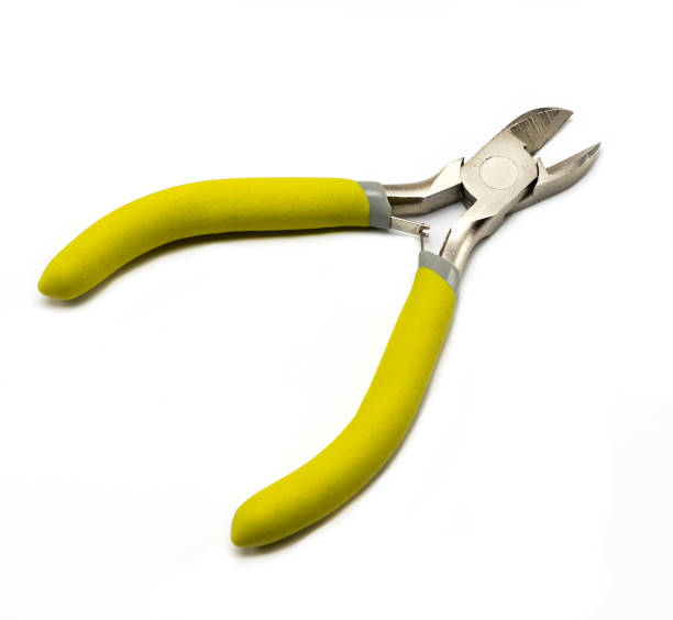 Cutting nippers with insulated handles stock photo