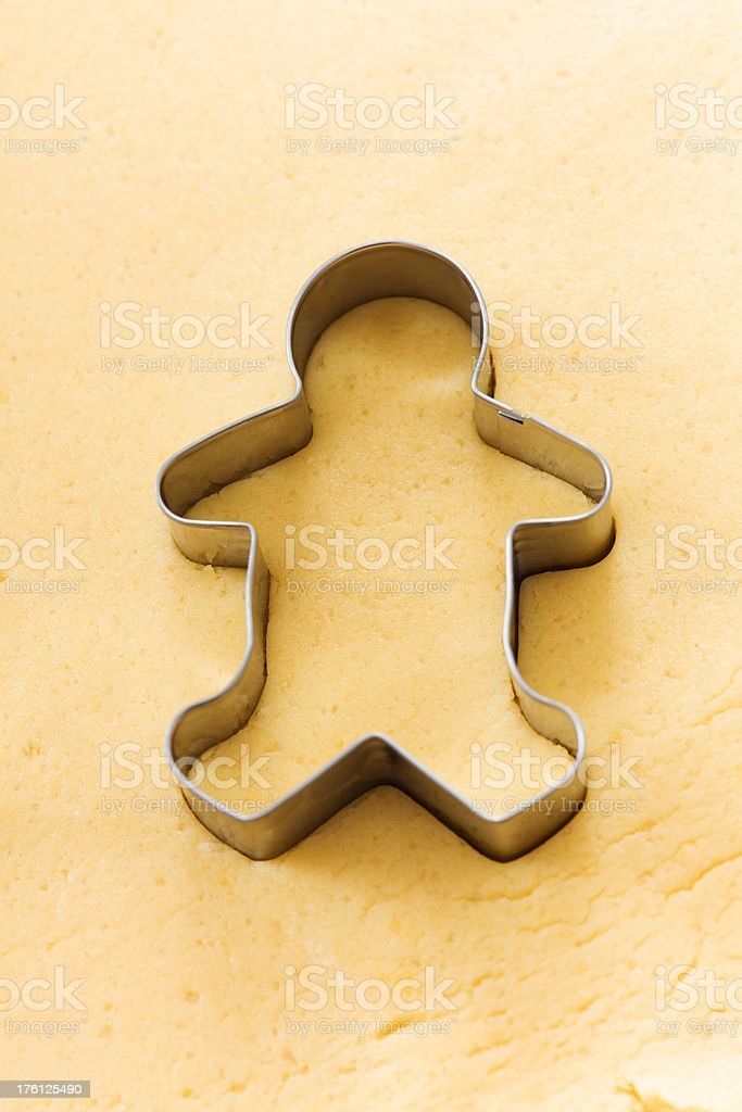 Cutting out Christmas Cookies stock photo
