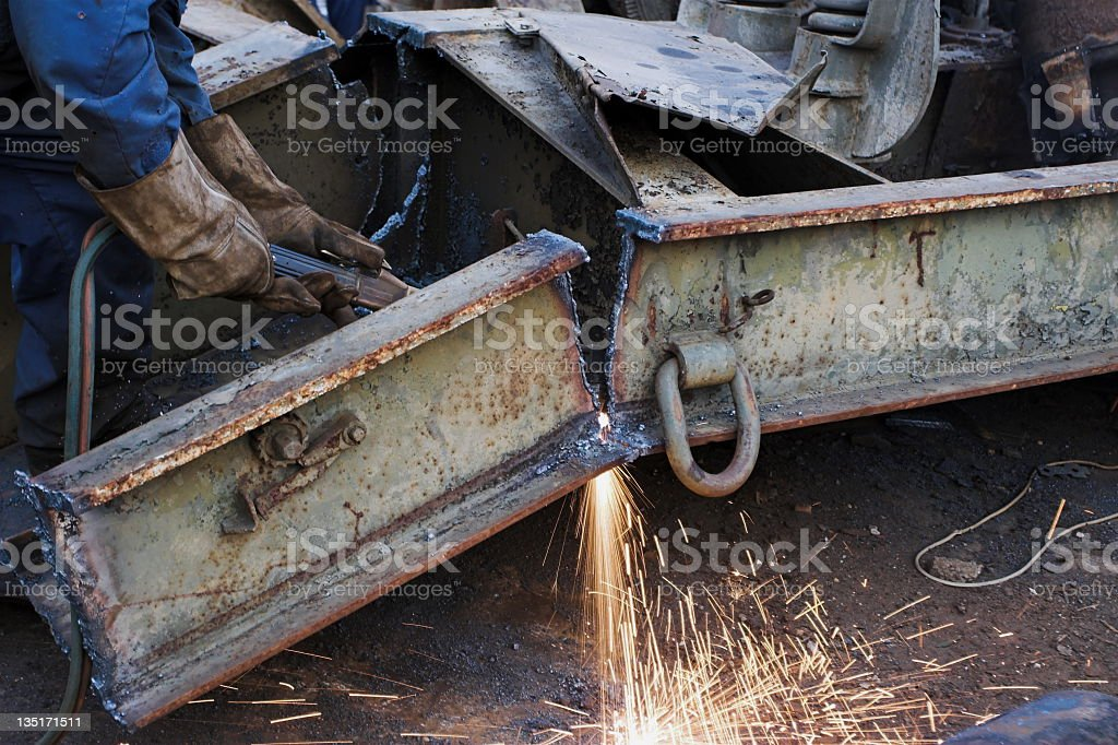 Cutting royalty-free stock photo