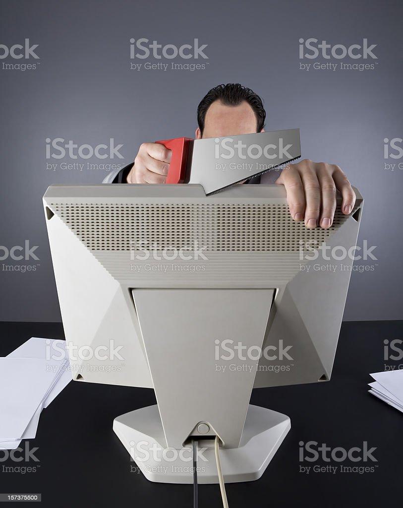 Cutting royalty-free stock photo