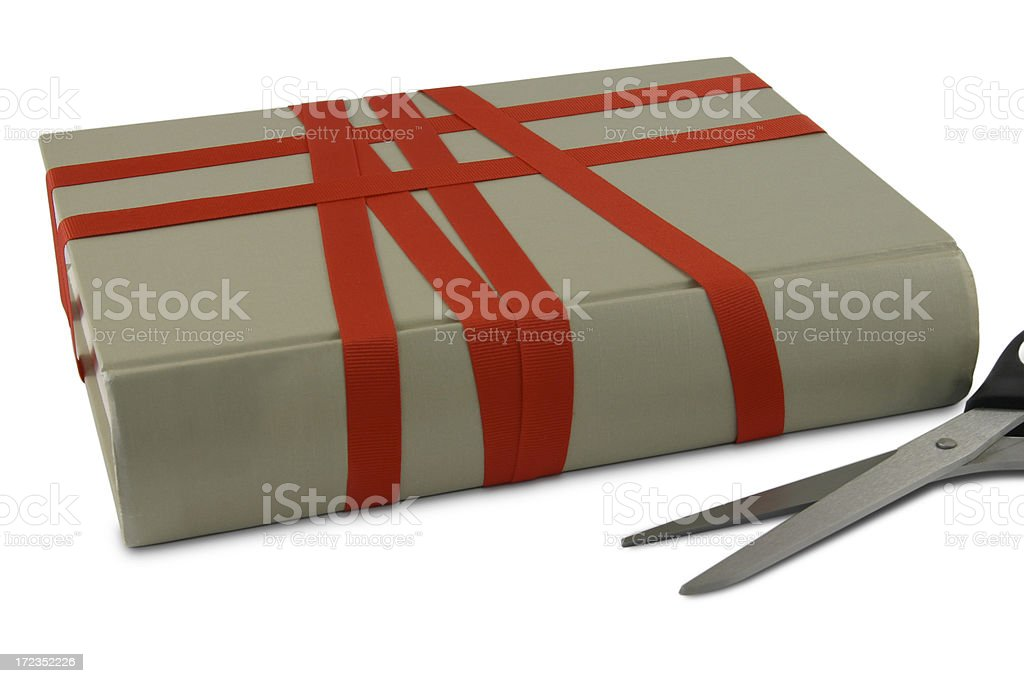 Cutting Red Tape royalty-free stock photo