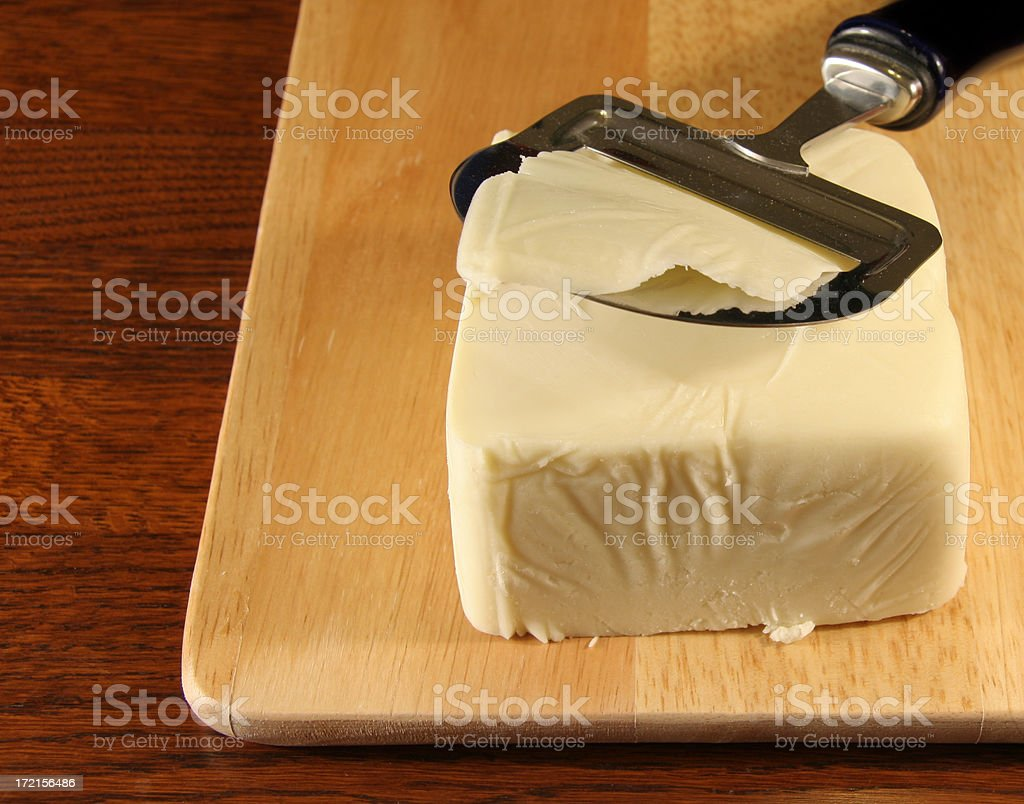 cutting the cheese royalty-free stock photo