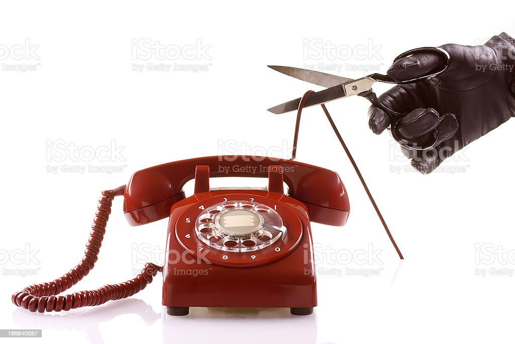 Cutting the Phone Line royalty-free stock photo