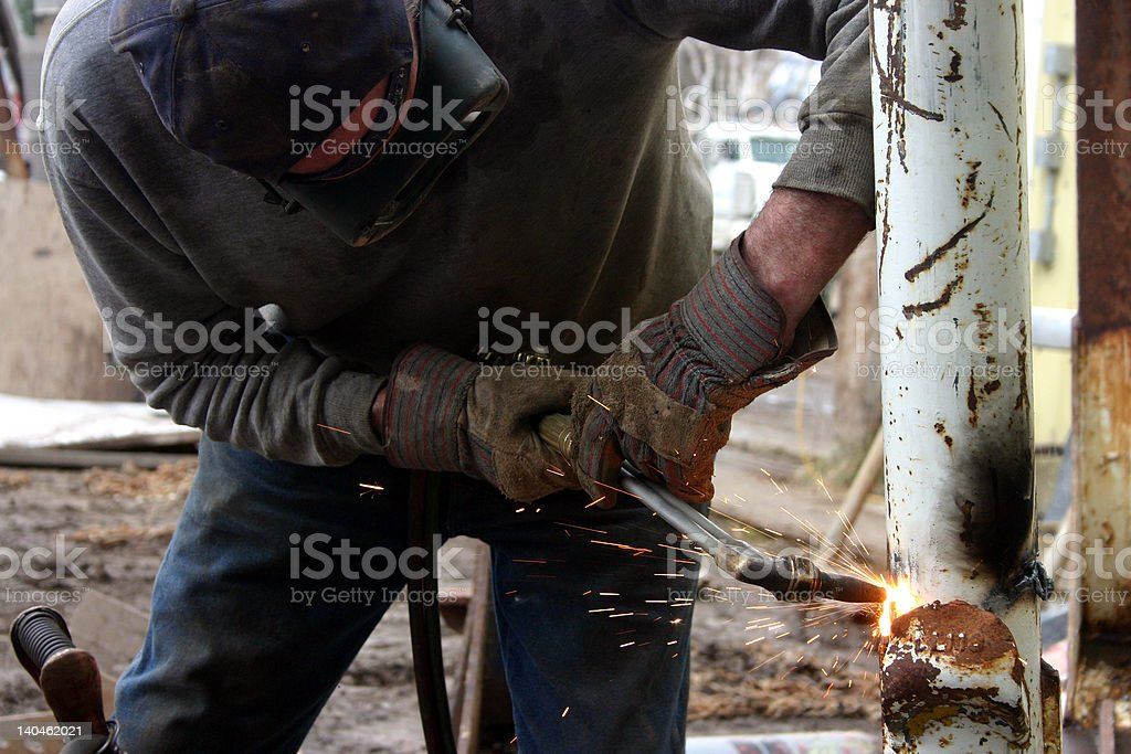 cutting torch royalty-free stock photo