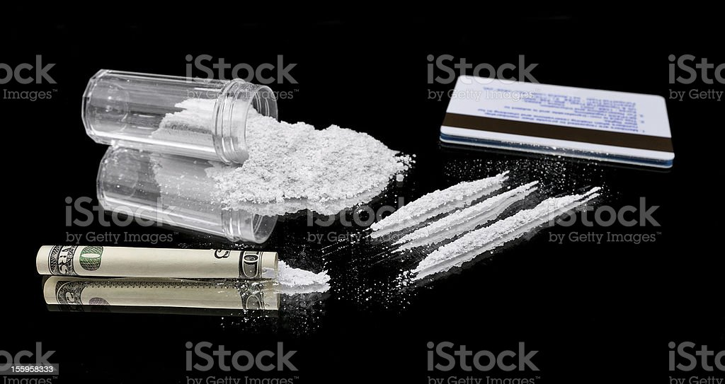 Cutting up Cocaine royalty-free stock photo