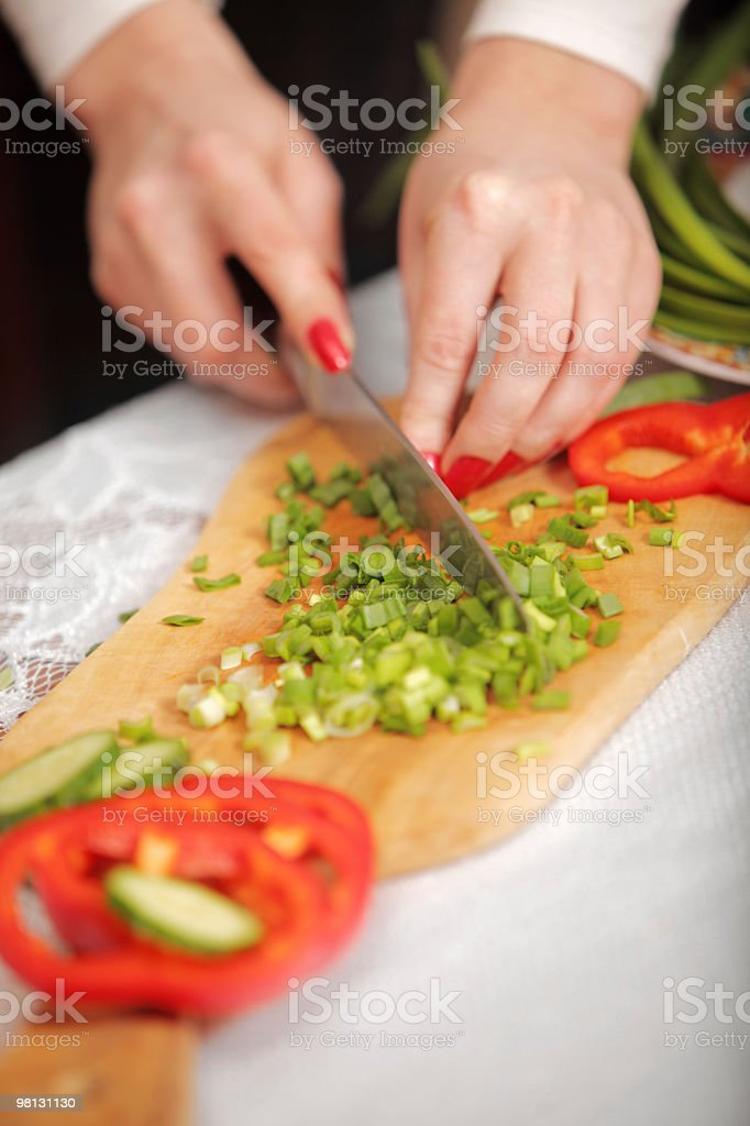 cutting vegetables royalty-free stock photo