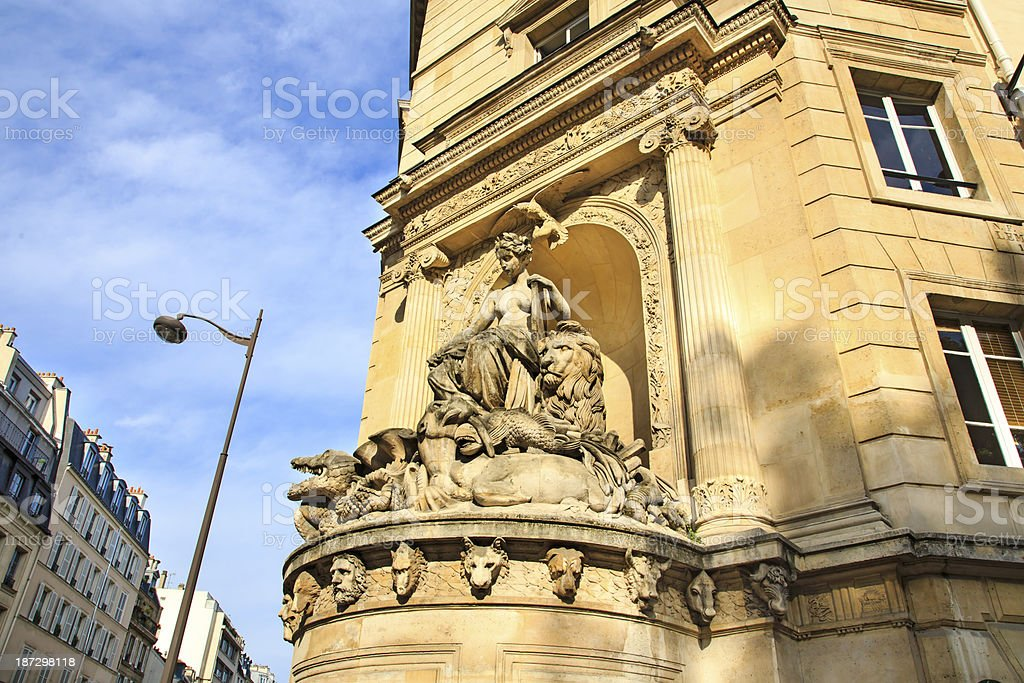 Cuvier fountain in Paris stock photo