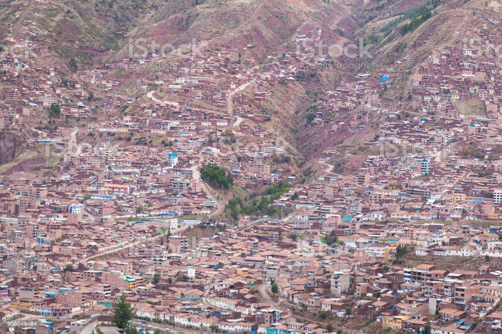 Cuzco Stadtbild - Lizenzfrei Anhöhe Stock-Foto