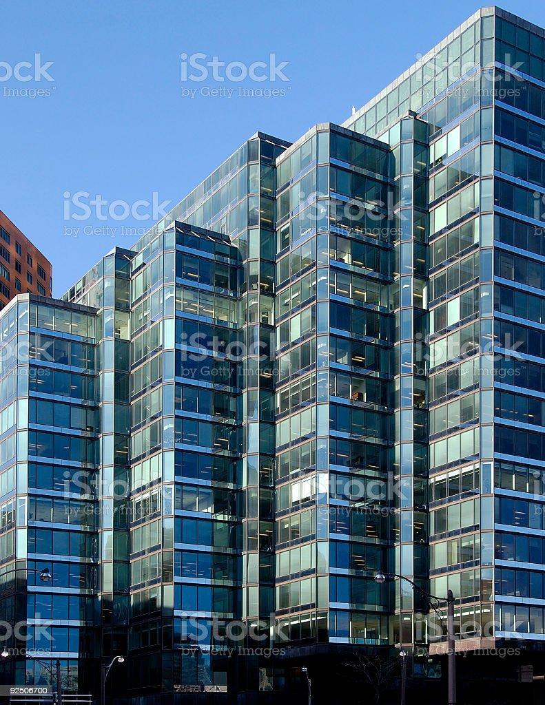 Cyan Buildings royalty-free stock photo