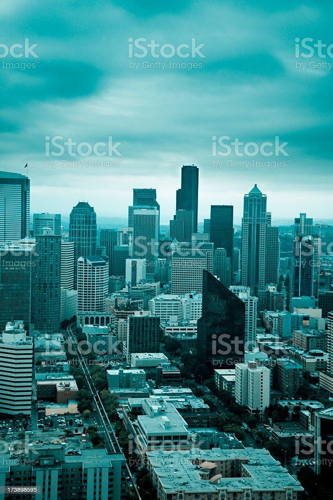Cyan City stock photo