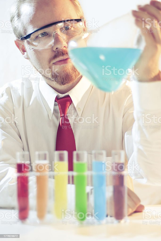 Cyan Flask stock photo