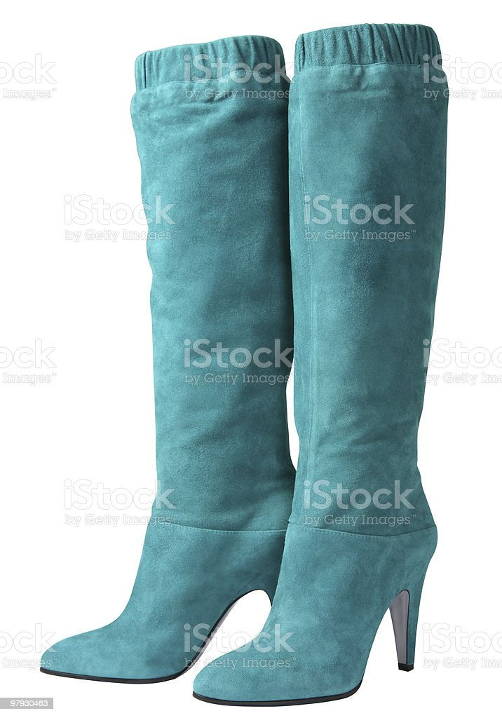 Cyan high shoes royalty-free stock photo