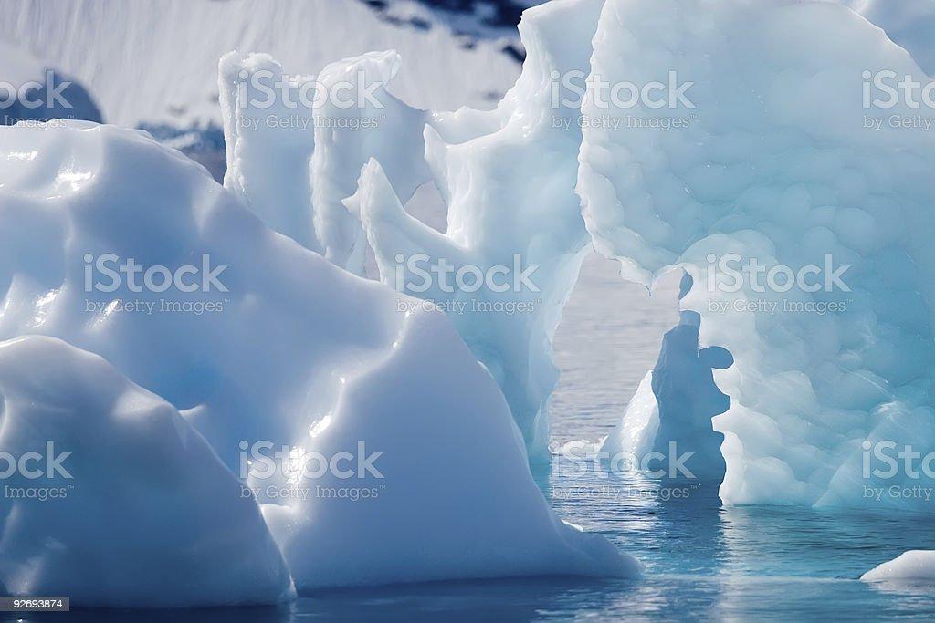 cyan icebergs royalty-free stock photo