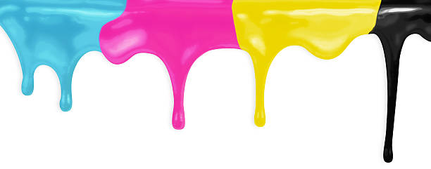 CMYK cyan magenta yellow black paints isolated with clipping pat CMYK cyan magenta yellow black paints isolated with clipping path included cmyk stock pictures, royalty-free photos & images