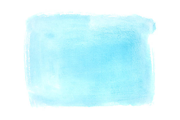 Cyan watercolor background stock photo