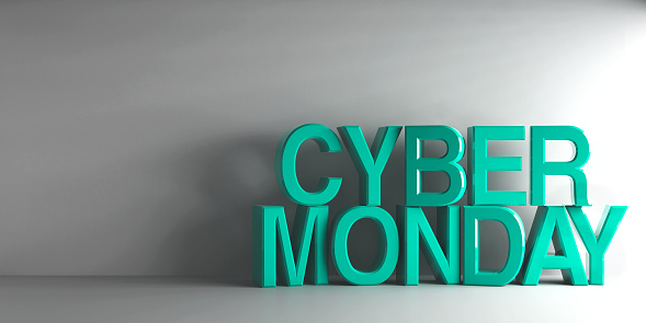 istock Cyan words Cyber Monday 879999310