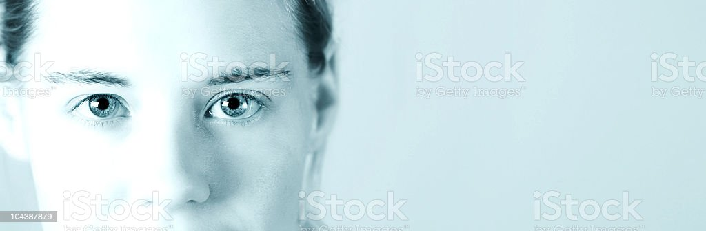 cyanide girl banner royalty-free stock photo