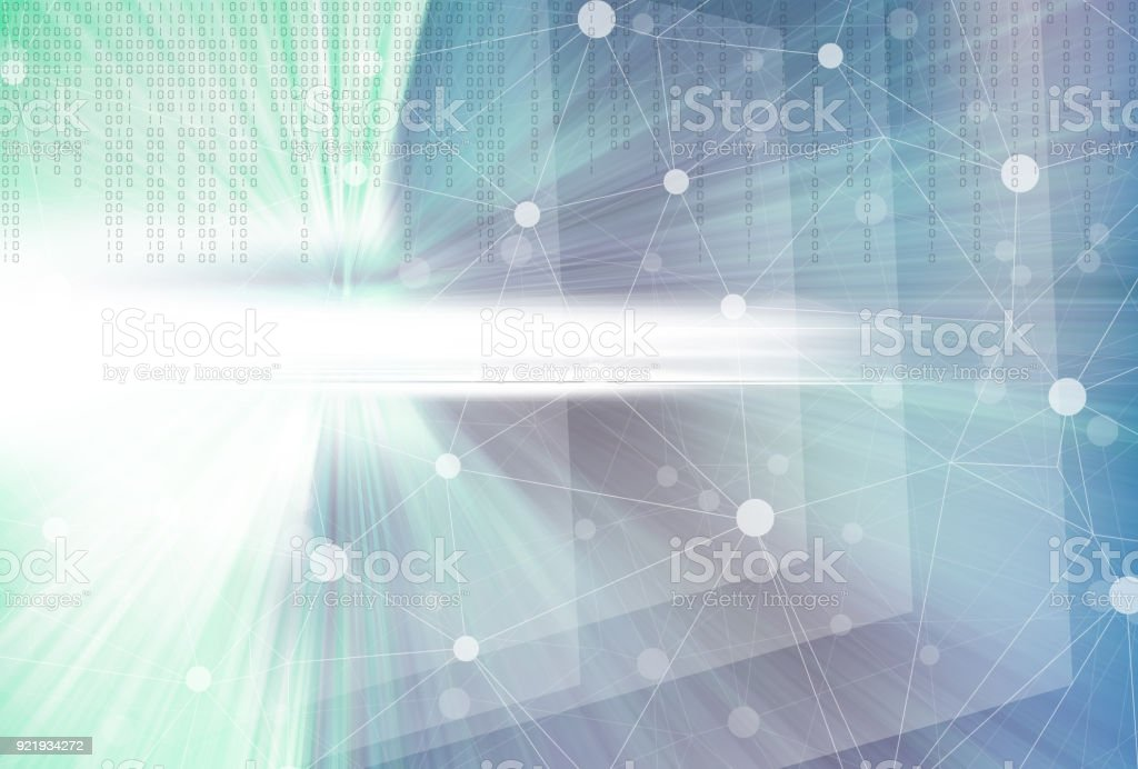 Cyber and Technology Background‎ stock photo