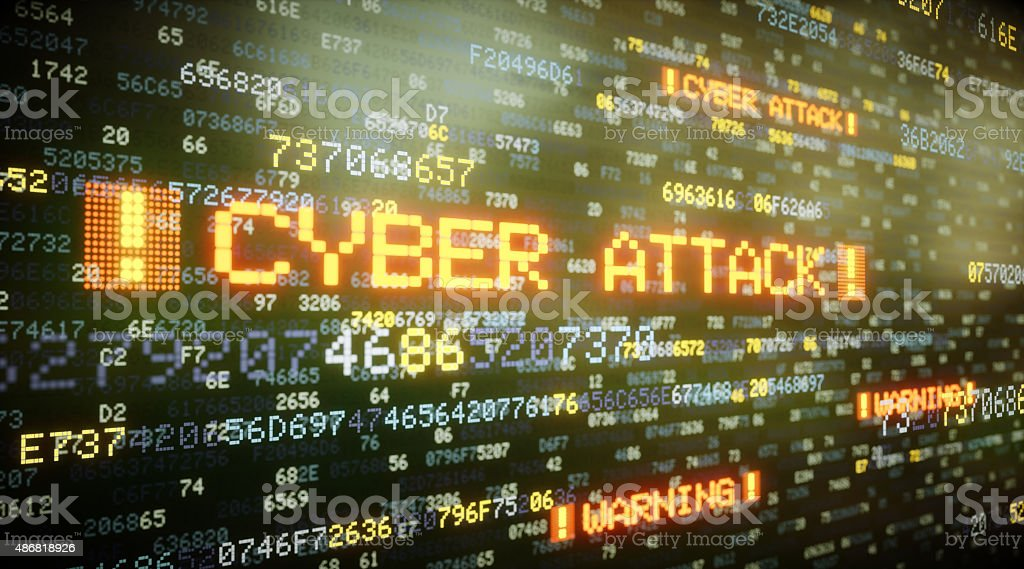 Cyber Attack A06 stock photo