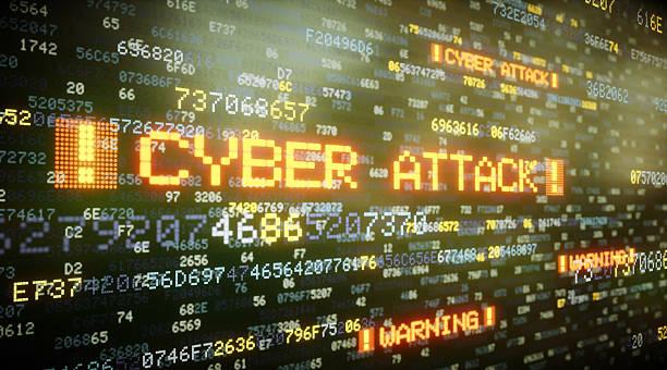 Cyber Attack A06 stock photo