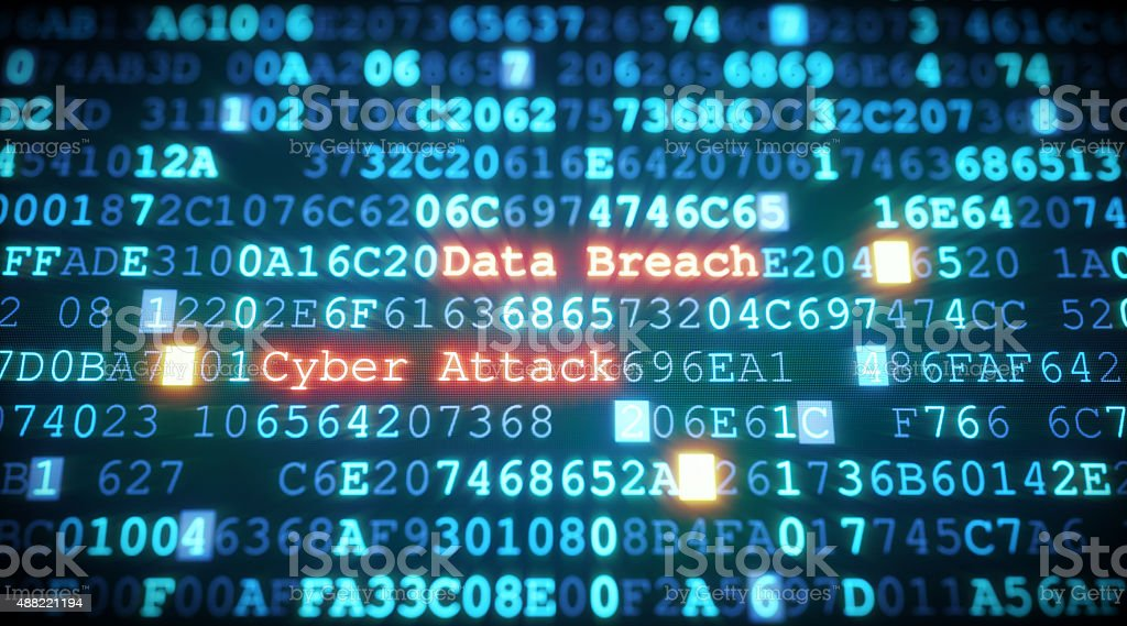 Cyber Attack A07 stock photo