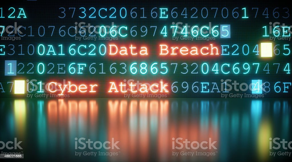 Cyber Attack A09 stock photo