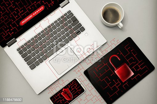 1008108222 istock photo Cyber attack and virus detected concept. 1155475532