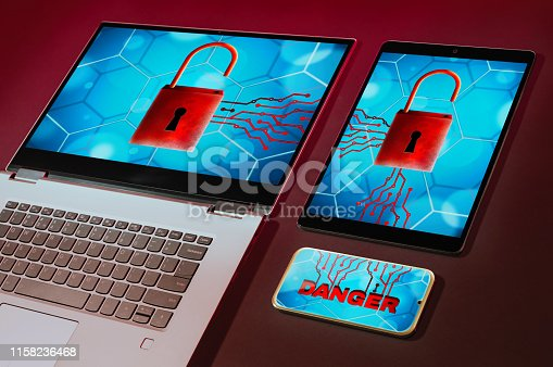 1008108222 istock photo Cyber attack and virus detected concept. 1158236468