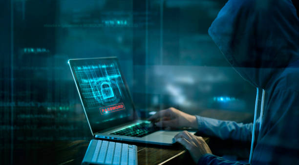 cyber attack or computer crime hacking password on a dark background. - hacker stock photos and pictures