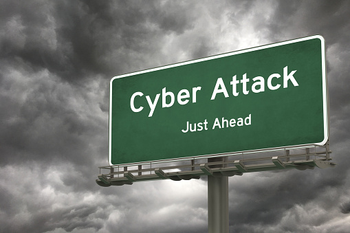 Cyber attack warning sign