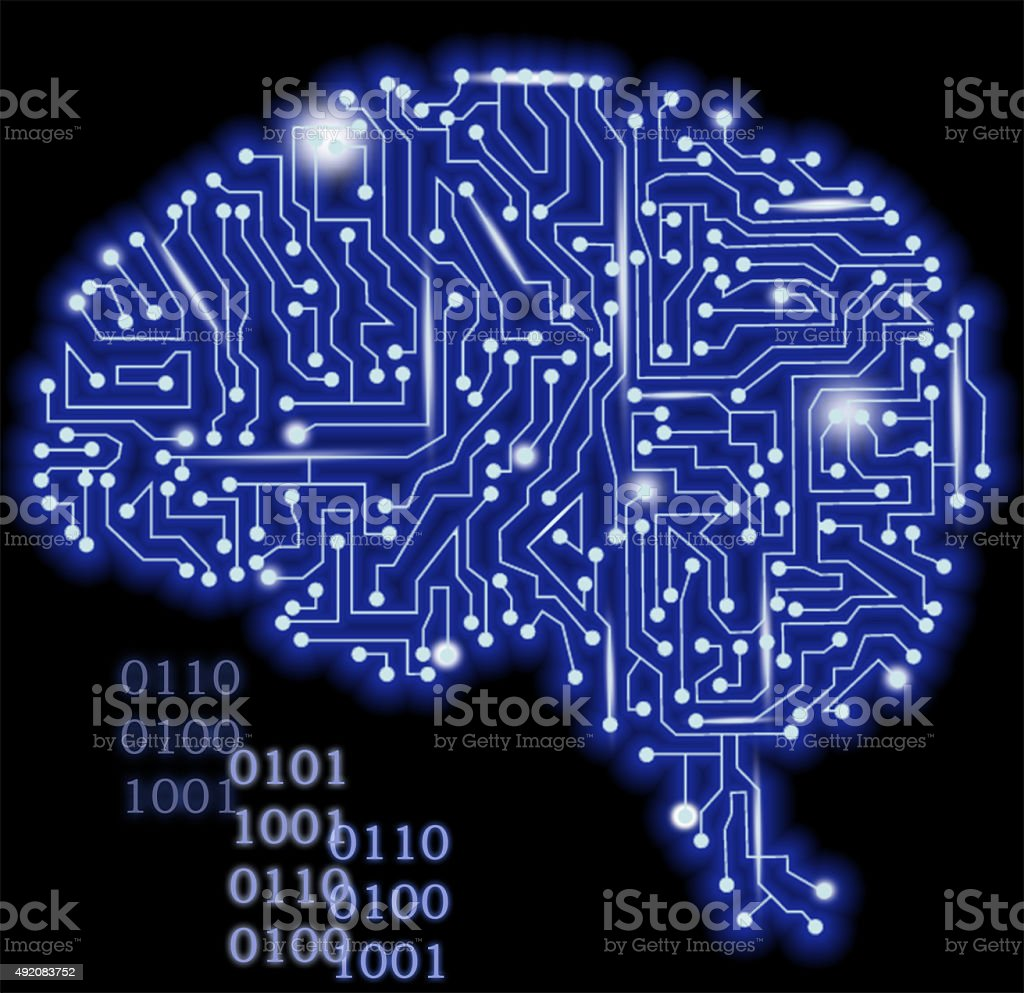 Cyber brain stock photo