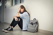 istock Cyber bullying at high school 1278979585