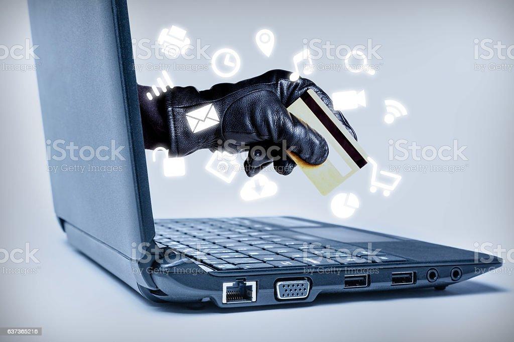Cyber Crime Concept stock photo