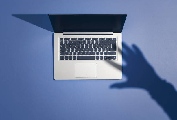 Cyber crime, malware and hackers stock photo