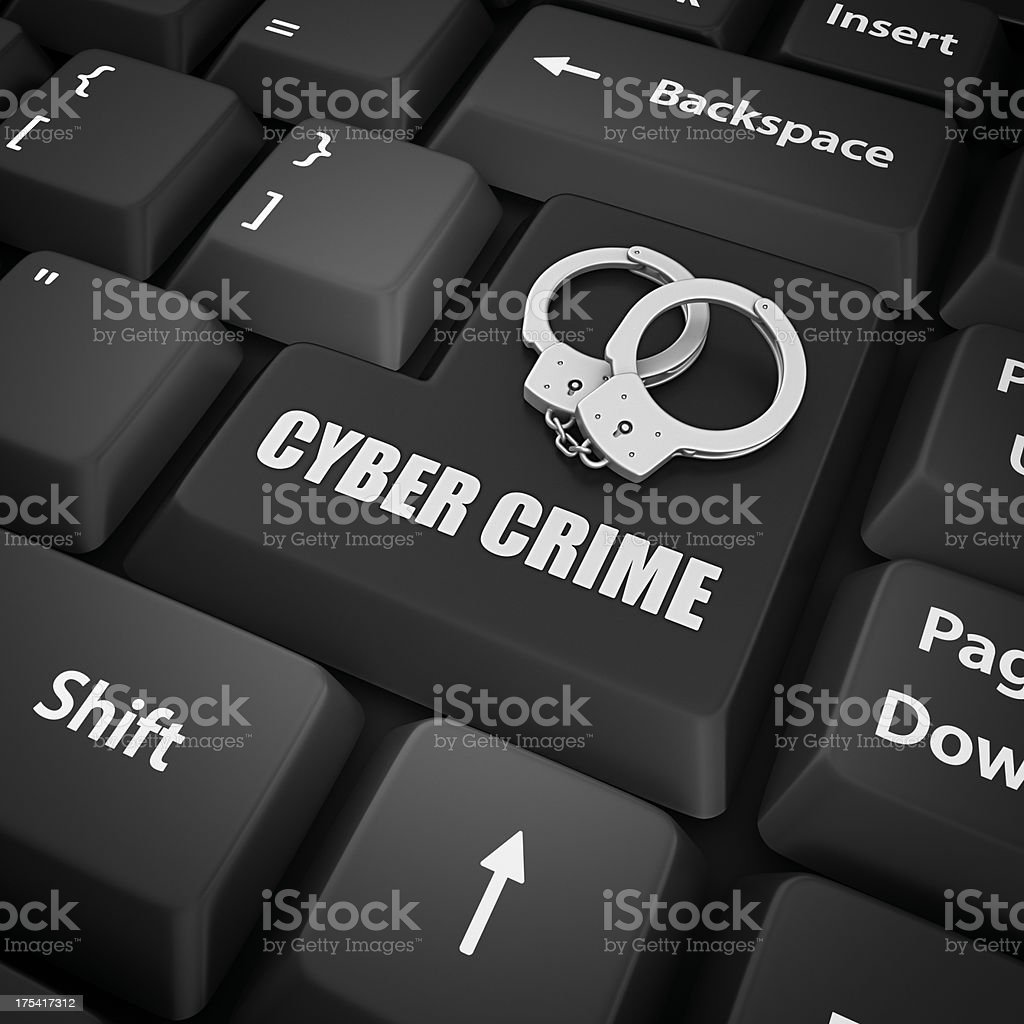 cyber crime royalty-free stock photo