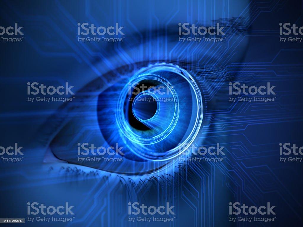 cyber eye stock photo