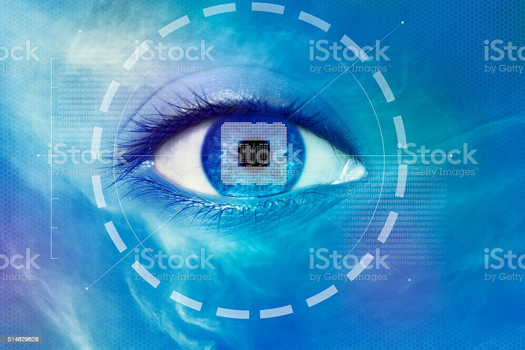 Cyber Eye stock photo