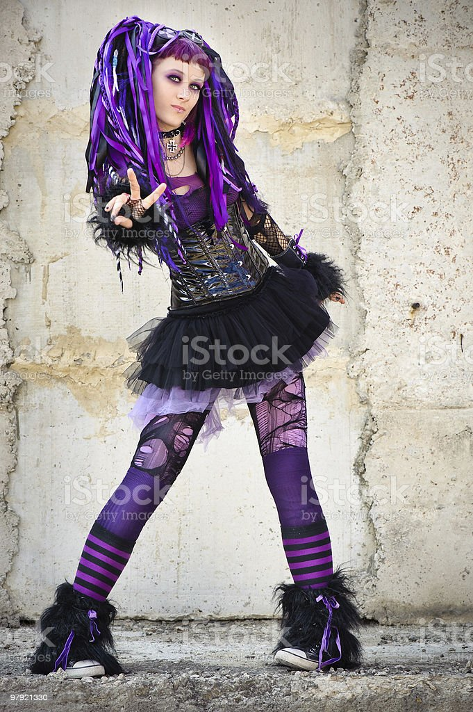 cyber gothic girl royalty-free stock photo