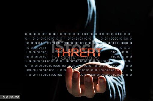 cyber hacker concept