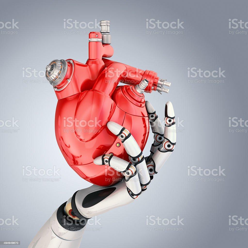Cyber Heart stock photo