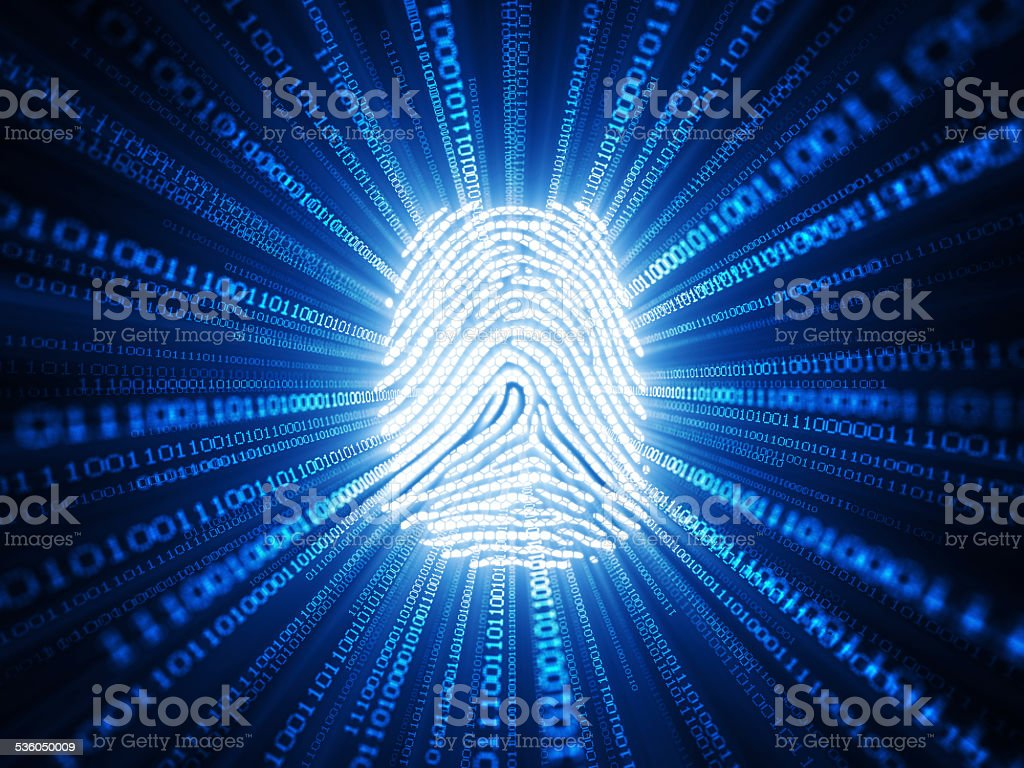 Cyber Identification stock photo
