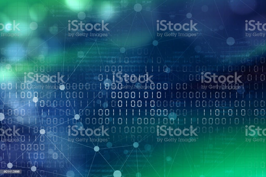 Cyber Internet Abstract Background Blue Green stock photo