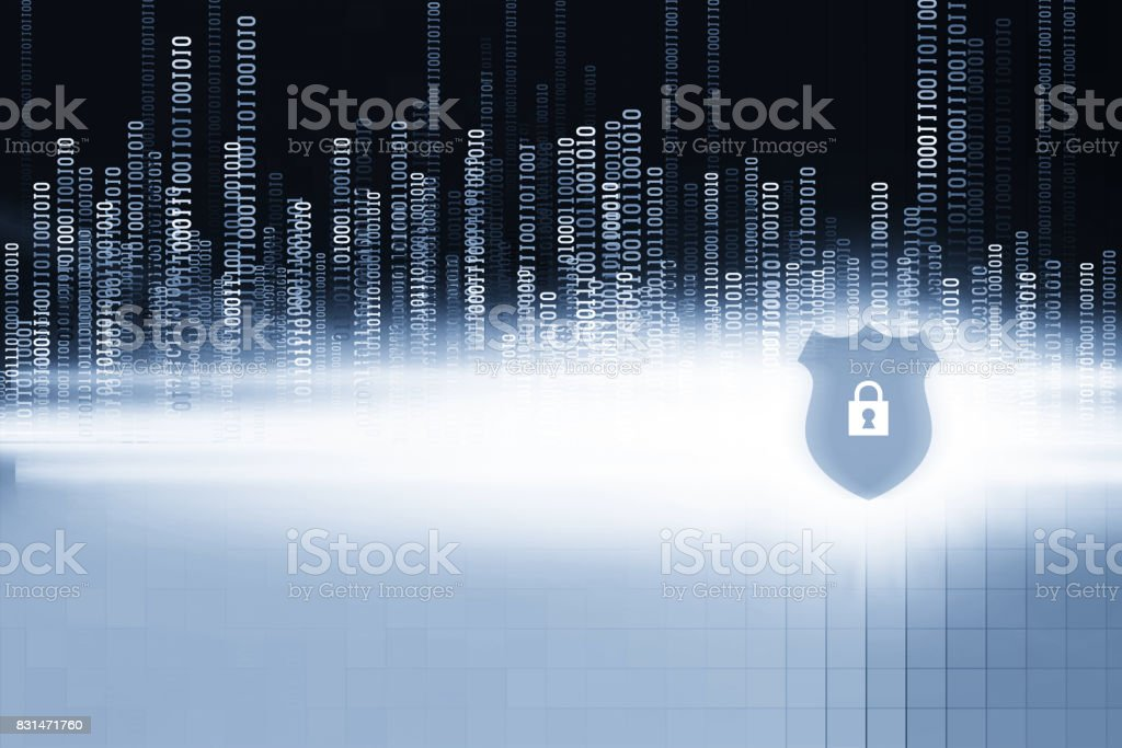 Cyber Internet Abstract Background Blue stock photo