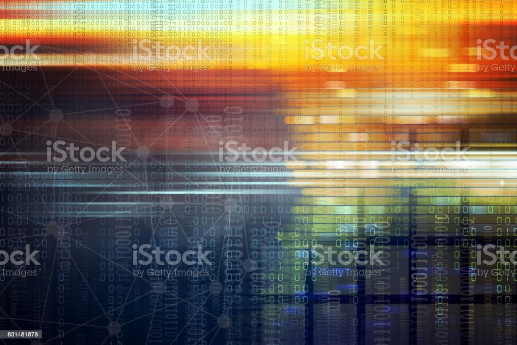 Cyber Internet Abstract Background stock photo