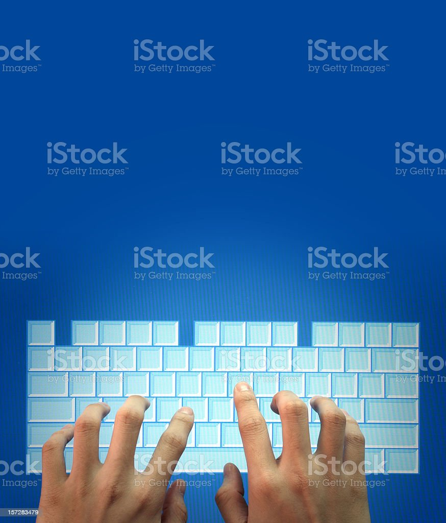 Cyber Keyboard royalty-free stock photo